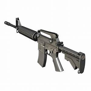 Colt M4A1 Carbine Assault rifle 3D Model – Buy Colt M4A1 ...