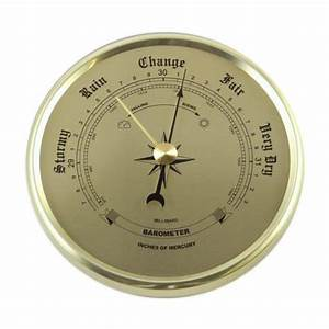 Barometers, Clock Inserts Style in Gold on Gold 2-3/4""