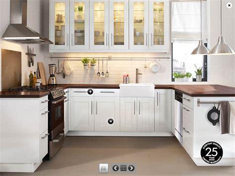 white kitchen furniture decorating the minimalist kitchen with stylish ikea white