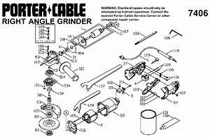Porter Cable 7406 4 2 Inch Angle Grinder Parts  Type 2
