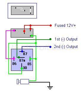 Neg Relay Switch Wiring Diagram by Door Locks Single Pulse To Lock And Unlock Negative