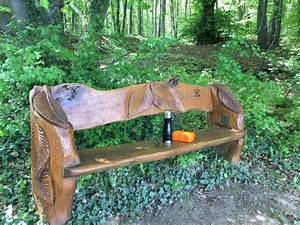 Tiere Mit Der Kettensge Geschnitzt Bank Holz Schnitzen