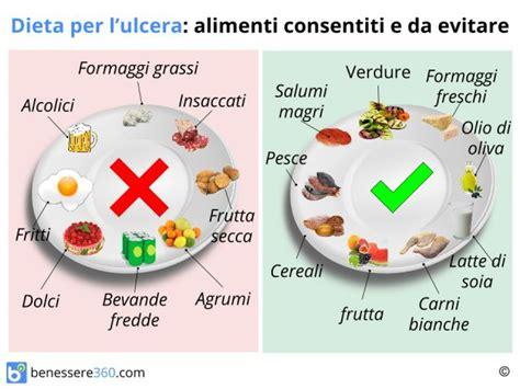 dieta  ulcera gastrica cosa mangiare cibi da evitare
