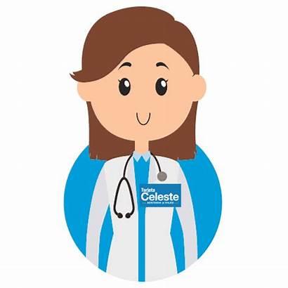 Doctor Cuidado Giphy Tarjeta Celeste Sticker Tweet