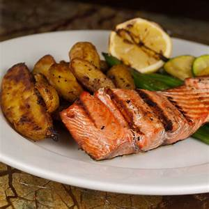 Grilled Salmon - Café Menu Dilettante Chocolates