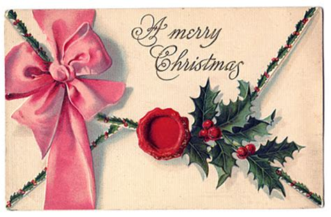 vintage chiristmas clip art beautiful envelope