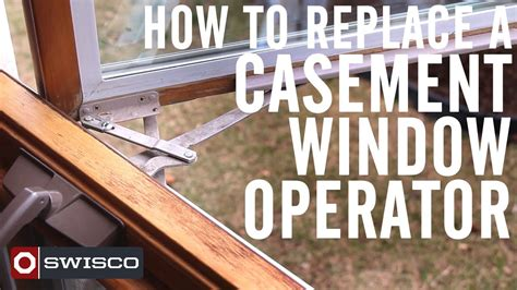 replace  casement window operator p youtube