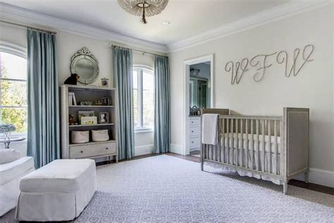 gray  blue nursery  marcelle crib transitional