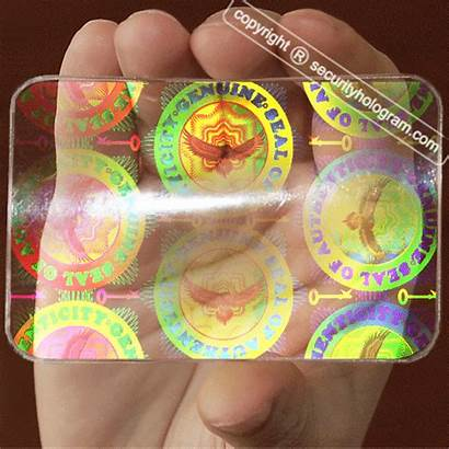 Holographic Hologram Sticker Passport Cards Overlay Secure