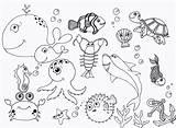 Under Ocean Drawing Sea Coloring Pages Getdrawings sketch template