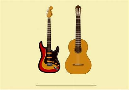 Guitar Chords Rolling Animation Illustration Jolliffe