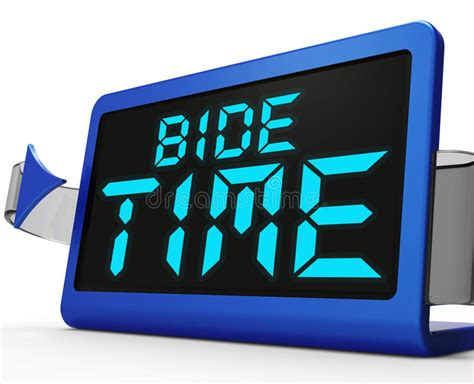 define bide bide time clock means wait for opportune moment stock