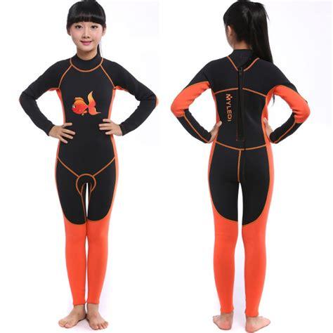 Girls Full Wetsuit 2MM Neoprene Diving Fullsuit for Teens ...