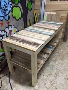 Shipping Pallet Upcycled Bench | Pallet Ideas: Recycled ...