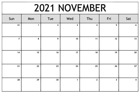 blank monthly  printable calendar template