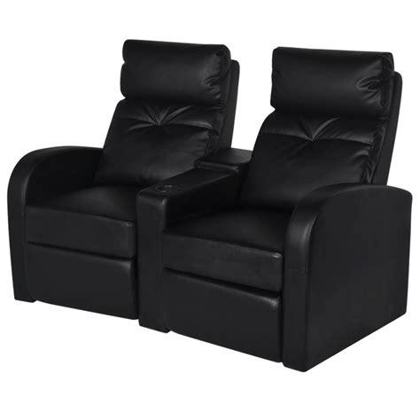 canape synthetique acheter canapé inclinable cinéma maison 2 sièges en cuir