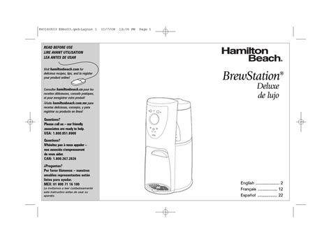 Commercial coffee maker cleaners work well, although you can use lemon juice diluted in water or vinegar as well. HAMILTON BEACH BREWSTATION DELUXE 47453 USE & CARE MANUAL ...