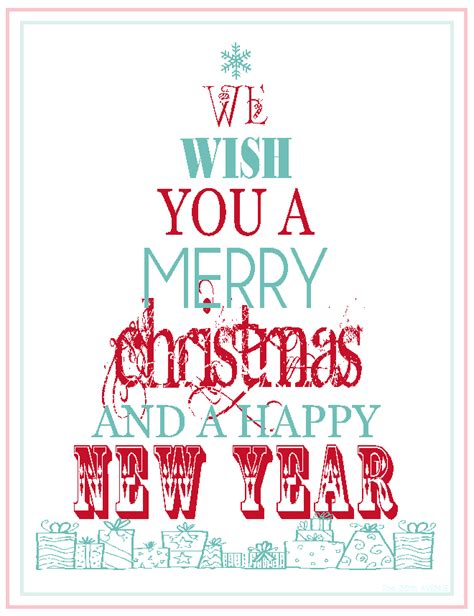 free printable merry christmas happy new year the 36th avenue