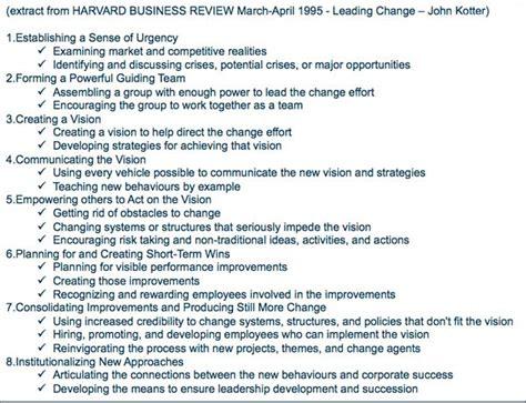Kotter Change Management Book by Kotter S 8 Step Change Model Book Review A Sense Of