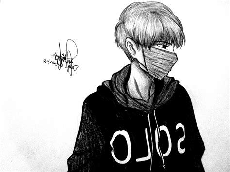 Deviantart Anime Draw Random Anime Girlazdaroth On Anime Drawings Black And White Amazing Sketch Sad Boy In