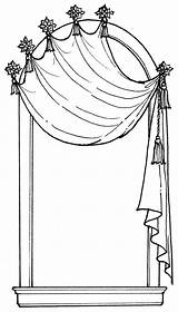 Curtain Coloring Pages sketch template