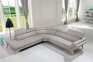 1541 modern grey leather sectional sofa las vegas for Sectional sofa las vegas