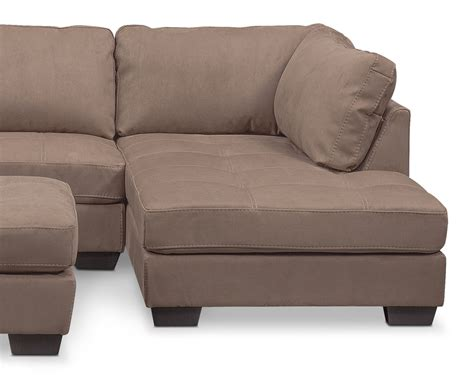 chaises taupe santana 2 sectional with right facing chaise and