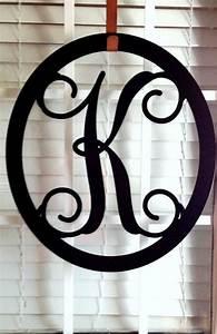 front door wreath metal monogram door from housesensations on With door letter designs
