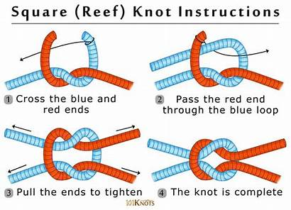 Knot Reef Square Knots Tie Scout Rope