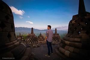 Sunrise, At, The, Amazing, Borobudur, Temple, In, Java, Indonesia, U2026, U2013, Designer