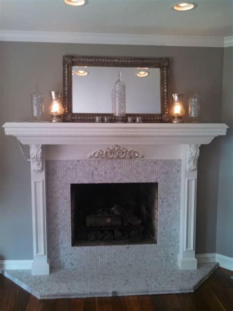 Marble Tile Fireplace Surround  Fireplace Design Ideas