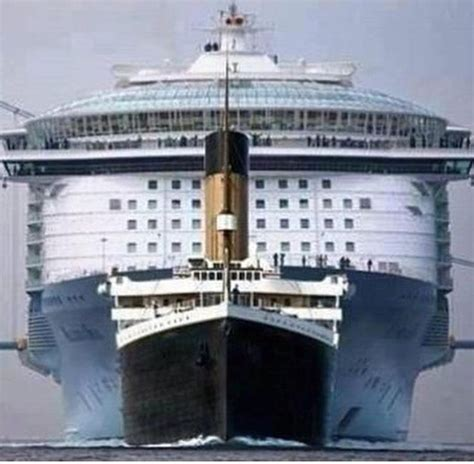 titanic scale to modern ships edtsoutheast on titanic cruise ships and cruises