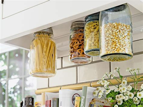 craft ideas for kitchen how to hanging jars for storage hgtv