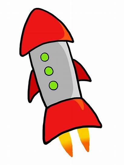 Rocket Clipart Clip Launch Cartoon Rockets Cliparts