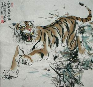 Chinese Painting: Tiger - Chinese Painting CNAG235006 ...