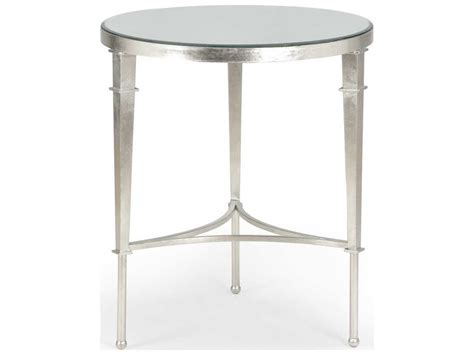 silver leaf end table chelsea house regent silver leaf 24 39 39 wide round end table