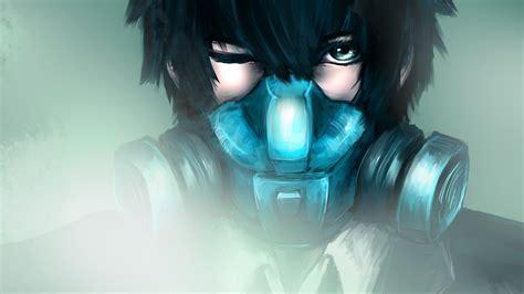 Shinya Kogami Wearing Gas Mask Hd Wallpaper Background