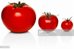 Three Tomatoes Of Different Sizes High