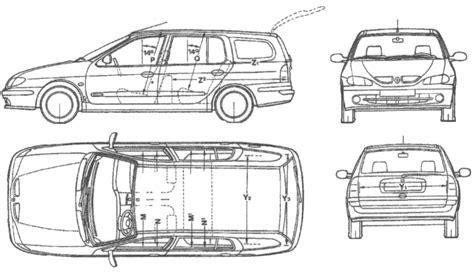 1995 renault megane wagon blueprints free outlines