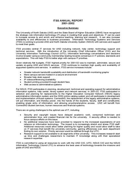 annual report template university  north dakota