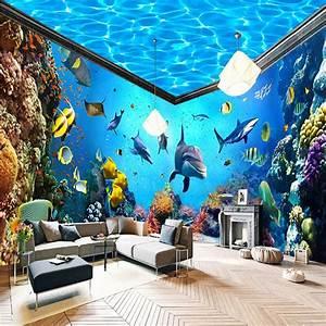 beibehang Underwater World Aquarium Whole House Backdrop ...
