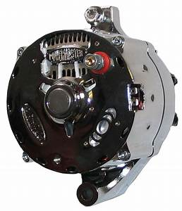 New Powermaster Alternator Chrome Serpentine 140amp Ford
