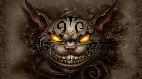 in cheshire cat cat cheshire evil wallpaper