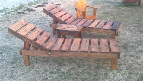 reclaimed pallet wood chaise lounge chairs adjustable