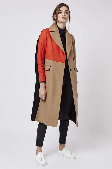 color coat color block trench coat wardrobe mag