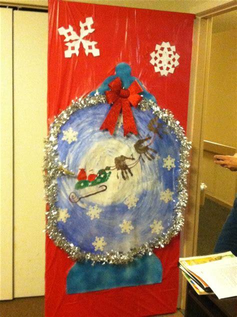 snow globe christmas door decorating doors holiday