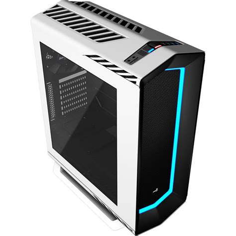 biggest pc case fan aerocool p7c1 white mid tower case with 8 colour led mode