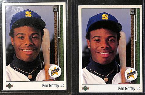Deck Ken Griffey Jr 355 by Lot Detail Lot Of 8 Ken Griffey Jr Rookie Cards W 1989