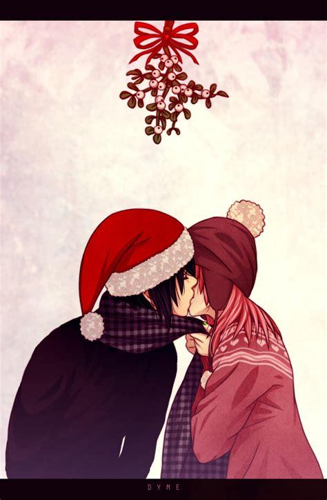 mistletoe christmas zerochan anime image board