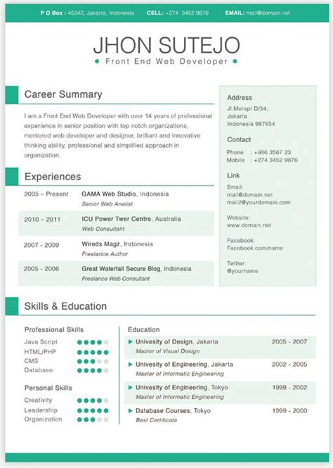 65 best creative resume templates images on